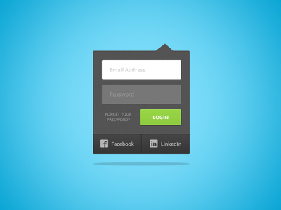 Login Dropdown Free Ui Kits
